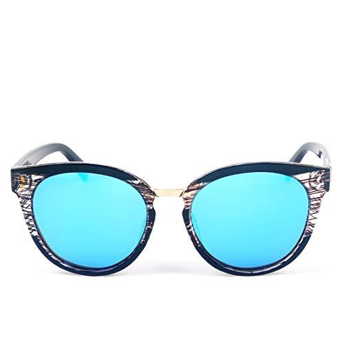 Soleil Lens UV400 LiShihuan Les Black Frame Frame Gray de Black pour Blue Lunettes Lunettes Color Lens surdimensionnées Protection Classiques Femmes Soleil de 10w1r