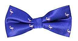 Navy Pink Flamingo Bow Tie | 5 Year Warranty | Gifts for Men | Groomsmen Bow Ties