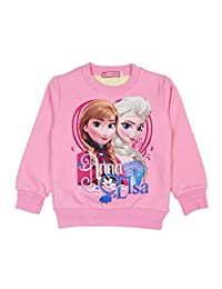 GD-SportBX Frozen Anna and Elsa Long Sleeve Pullover Sweater for Girls Warm Cartoon Top for Kids