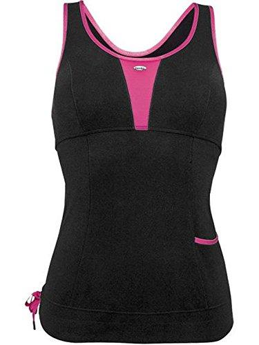 Deportes Berlei move-x Yoga chaleco sujetador deportivo negro - Black Pink