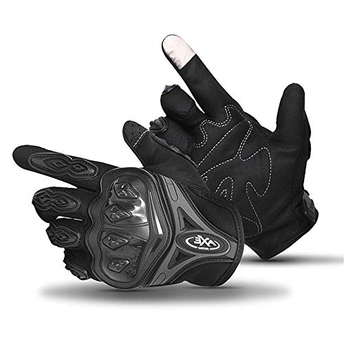 Driving Cycling Gloves-Touch Screen Gloves,Pro-Biker Mountain Bicycle Cycling Off-Road/Dirt Bike Gloves Road Racing Motorcycle Motocross Sports Gloves Full Finger Glove for Men and Women (Black)