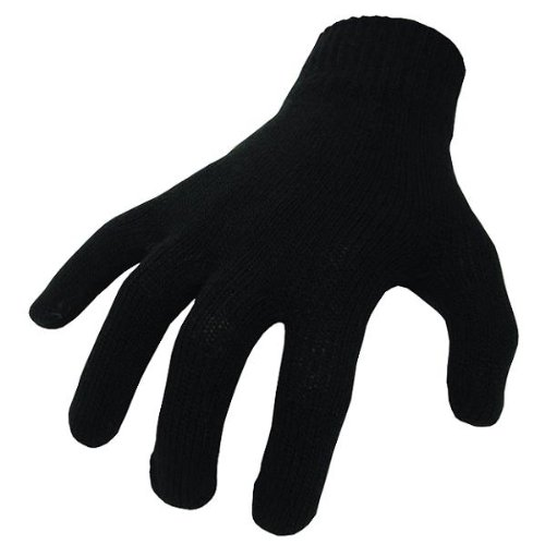 Motorcyclists / Ski - Genuine 'Thermolite' Inner Gloves, Black,Thermal, One size / British Made stretch fit LD bikeit