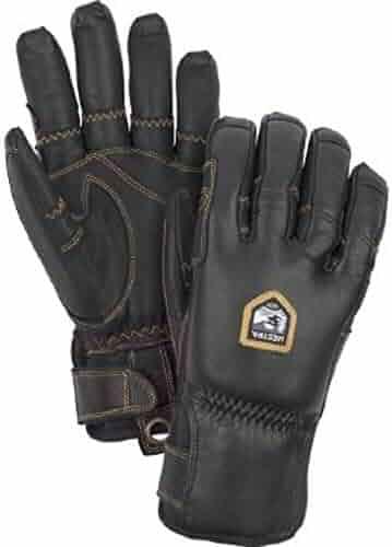 c03adc1a151 Hestra Unisex Ergo Grip Incline-5 Finger Gloves Black Black 8   Cap Bundle