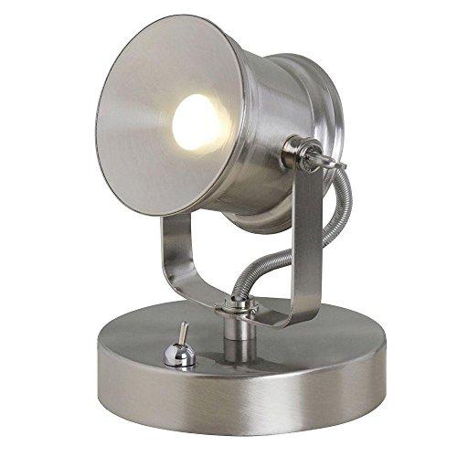 Hampton Bay 5.1 in. Brushed Nickel LED Spotlight Desk Lamp