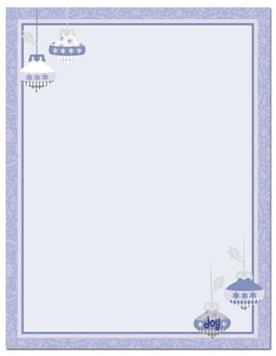 Masterpiece Studios Imprintable Blank Stock - Periwinkle Ornaments ()