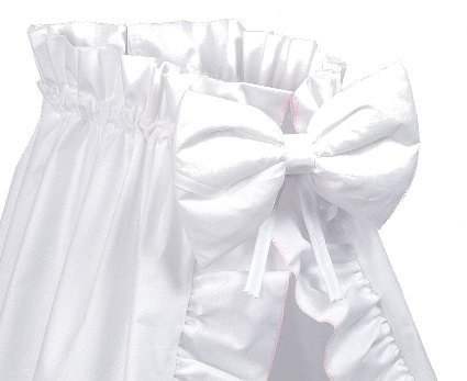 Amigos stubenwagen ausstattung xxl weiß mit rosa kante inkl
