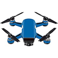 Skin For DJI Spark Mini Drone – Solid Blue | MightySkins Protective, Durable, and Unique Vinyl Decal wrap cover | Easy To Apply, Remove, and Change Styles | Made in the USA