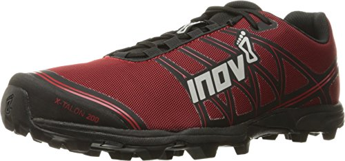 Inov-8 Unisex X-Talon 200 | Super Lightweight OCR Trail Running Shoe | Wide Fit | Perfect for Mud and Obstacle Races | Red/Black M4/ W5.5