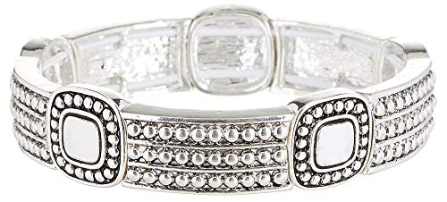 """Napier """"Well Suited Silver-Tone Stretch Bracelet"""