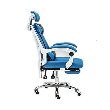 NSCHJZ Silla de Oficina con Ruedas Color Azul, Ergonómica ...
