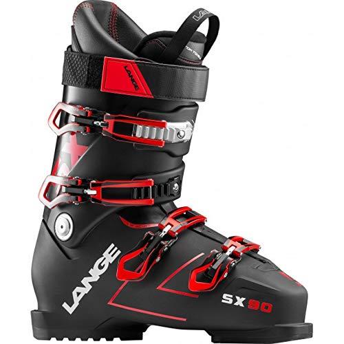 (Lange SX 90 Ski Boots 2019-27.5/Transparent Black-Red)