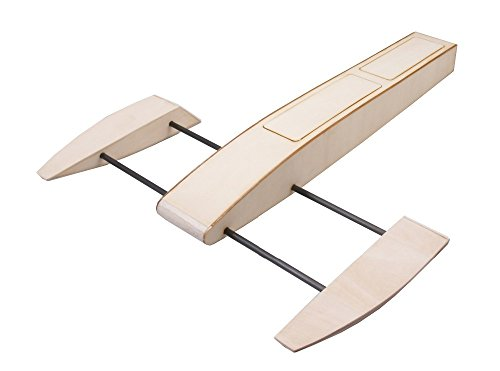 Dancing Wings Hobby RC Outrigger Shrimp Boat Wooden 495mm Sponson Race Boat Kit without Shafting & Rudder - Outrigger Boat