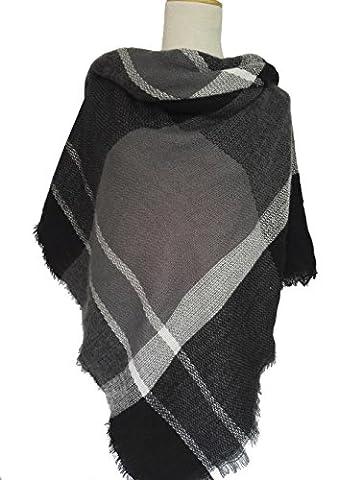 Black Friday TomYork England Style Sub - scarf Thickening Warm Acrylic Checkered Square Large - Harry London Truffles