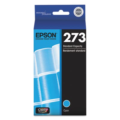T273220 (T-273) Claria Ink, 300 Page-Yield, Cyan, Sold as 1 Each (Epson 273 Photo Black Xl)