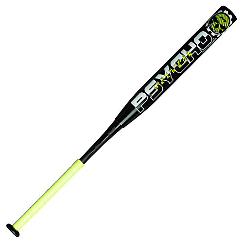 Miken Jeremy Isenhower & Kyle Pearson Dual Signature Psycho Slowpitch Softball Bat, Black, 28 oz