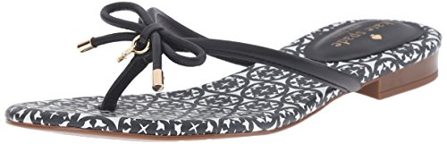 Kate Spade New York Women's mistic Flip Flop, Black, 7 M US by Kate Spade New York