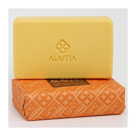 Alaffia Fair Trade Shea Butter Triple Milled Soap, 5 oz Bar 2 100% Fair Trade Ingredients Triple-Milled for Long Lasting Use No Synthetic Fragrance