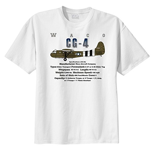 CG-4 Waco Glider WarbirdShirts™ Boy's Short Sleeve for sale  Delivered anywhere in USA