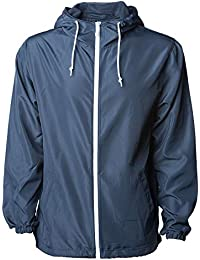 77dab90d64cc Global Men s Hooded Lightweight Windbreaker Winter Jacket Water Resistant  Shell