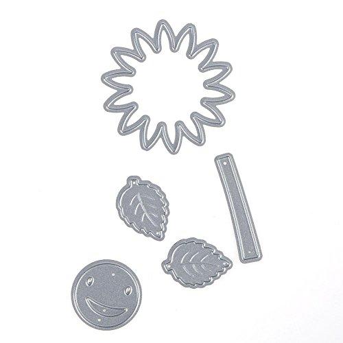 Carbon Steel Sunflower DIY Cutting Die Scrapbook Craft Embossing Stencils - Punch Sunflower