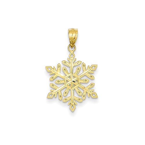 14k Gold Diamond -Cut Snowflake Pendant - Diamond Cut Snowflake Pendant Shopping Results
