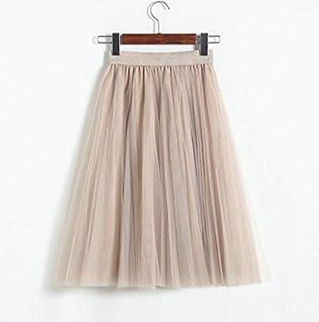 DQHXGSKS Faldas de Tul para Mujer Negro Gris Blanco Adulto Falda ...
