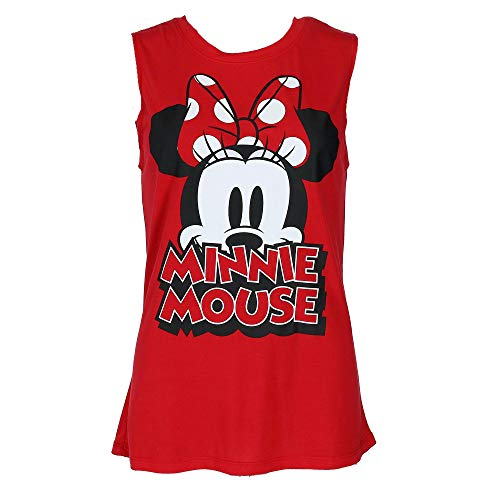 Minnie Mouse Bow Women's Fashion Tank Top Medium Red]()