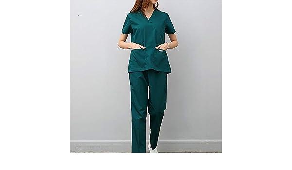OPPP Ropa médica Hospital médico para Mujeres Conjunto de Matorrales Clínica Dental Salón de Belleza Enfermera Uniforme Cirugía de Manga Corta Ropa ...
