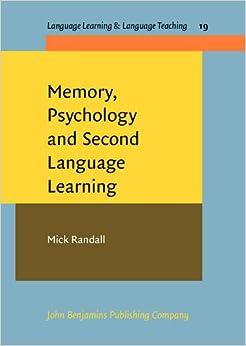 Amazon.com: Memory, Psychology and Second Language