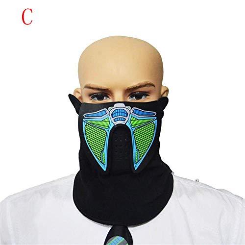 Iusun Halloween Mask, LED Easter Rave Mask Luminous Costume Mask Toys (C)]()