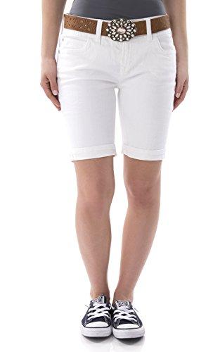 UPC 098713253370, WallFlower Juniors Belted Luscious Curvy Bermuda Denim Shorts in Ever Size:3