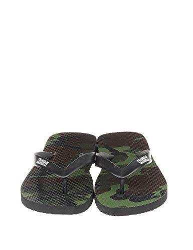 Franklin & Marshall Men's Man's Flip Flops In Black Color 100% Cotton camouflage