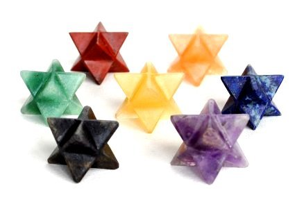 Healing Crystals India Natural Gemstone Merkaba Star Chakra Set Free Authenticity Certificate & eBook About Crystals Healing (Chakra #E)