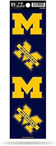 Rico NCAA Michigan Wolverines Quad Decal