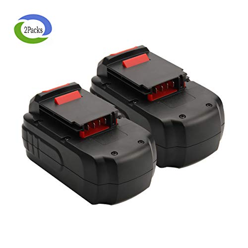 Creabest New 18V 3.0Ah Ni-HM Battery Replacement for Porter Cable PC18B Porter Cable PC18B-2 Porter Cable PCC489N Porter Cable CMVC Porter Cable PCXMVC Power Cordless Tools Replacement Battery 2Packs by Creabest