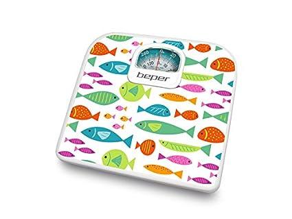 Beper 40.812F2 - Bascula de bano analogica con diseno peces