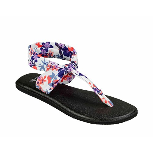 Sanuk Womens Yoga Sling Ella Prints Slingback Sandal Liberty Waikiki Floral Size 10