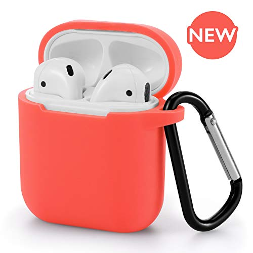 AirPods Case - BLUEWIND AirPod Case Silicone Cover 2019 Newest 360° Protective Cases Compatiable with Apple AirPods 2nd/1st (Living - Pack Coral
