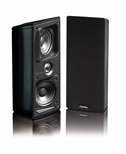 "Definitive Technology VCZE MYTHOS GEM Dual 3-1/2"" Bookshelf Speakers (Pair) Black"