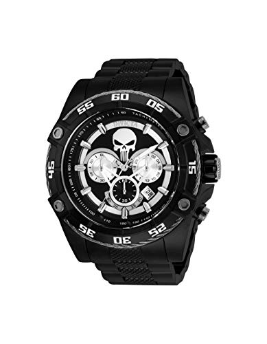 Invicta Men's 'Marvel' Quartz Stainless Steel Watch, Color:Black (Model: 26862)