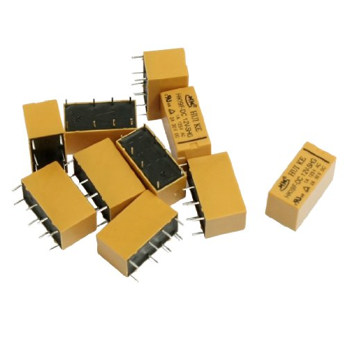 (uxcell 10 Pcs DC 12V Coil DPDT 8 Pin PCB General Purpose Power Relay HK19F )