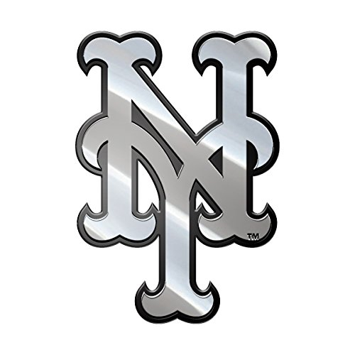 MLB New York Mets Metal Emblem, One Size, One Color