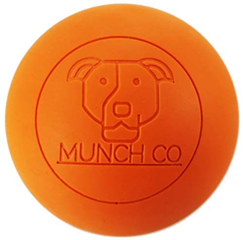 MUNCH Co- GIT IT! Ball, High Density, 100% Natural Rubber, Dog Bouncy Ball and Training Tool