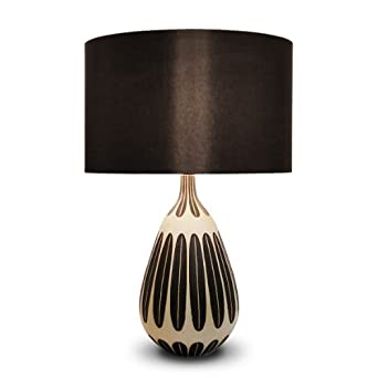 Extra Large Modern Brown & Cream Ceramic Table Lamp: Amazon.co.uk ...