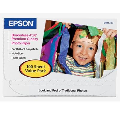 Epson FBA_s041727  PREMIUM GLOSSY PHOTO PAPER, 4X6 100 (Papers 100 Gloss Photographic Sheet)