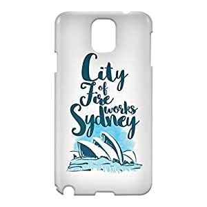 Loud Universe Samsung Galaxy Note 3 3D Wrap Around Sydney Print Cover - White