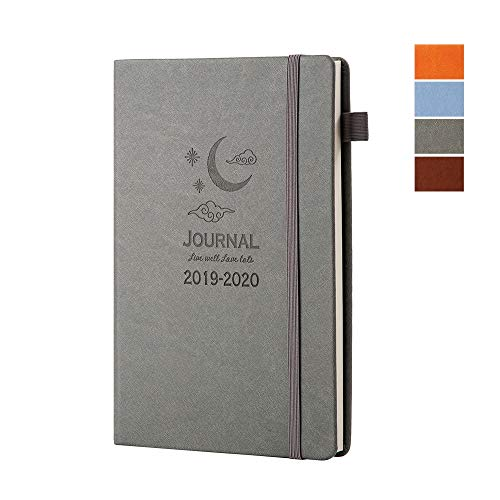 Day Planner 2019-2020 (June 2019 - June 2020) Daily Weekly and Monthly Planner 13 Months Weekly Hardcover Leather Calendar Organizer with Inner Pocket 5.7
