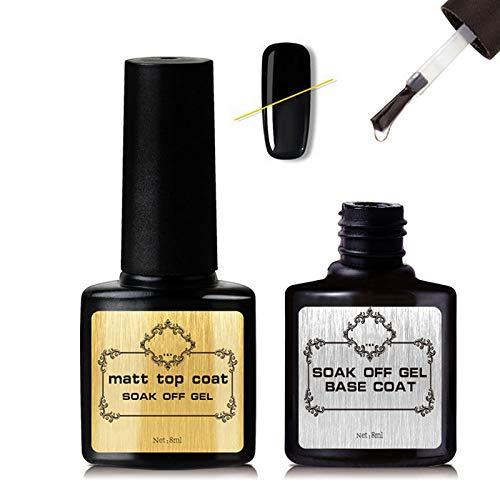 Zenpy Top and Base Coat Set Poly Nail Gel Nail Builder Kit, Nail Professional Gel Extension Nail kit ()
