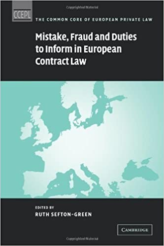 Mistake, Fraud and Duties to Inform in European Contract Law (The Common Core of European Private Law) (2009-01-08)