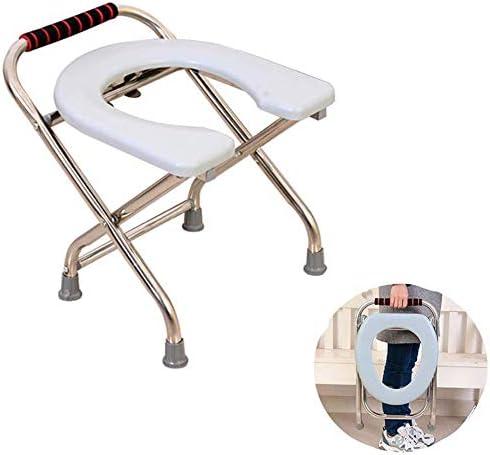 Duschstuhl, Duschstuhl Toilettensitz Einfache Toilette Toilette Für Behinderte Badezimmerhocker Faltbare Toilette Toilettensitz Für ältere Menschen Toilettenhocker Für ältere Menschen,34cmX27cmX30cm